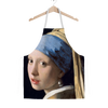 Girl with a Pearl Earring (1665) by Johannes Vermeer Apron