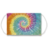 Light Rainbow Sunburst Tie Dye Pattern Face Mask
