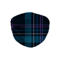 Dark Blue Plaid Pattern Face Mask