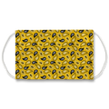 Yellow Paisley Pattern Face Mask