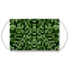 Green 8 Bit Background Face Mask