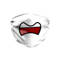 Toon Mouth Angry White Face Mask