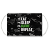 Eat Sleep Game Repeat Face Mask