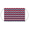 Red - White - Blue Zig Zag Face Mask