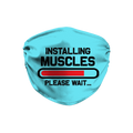 Installing Muscles Blue Face Mask