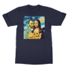 Vincent and Mona Lisa T-shirt - Self-Portrait Van Gogh & Mona Lisa DaVinci