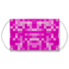 Pink 8 Bit Background Face Mask