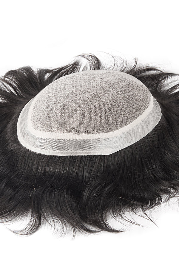 The Injection Lace Center with Poly around Stock Hairpieces for Men