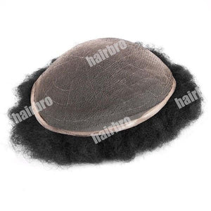 French Lace Base Afro Wave Stock Men Hair Replacement