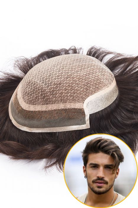 The Injection Lace Center with Poly Side and Back Hair Replacement System
