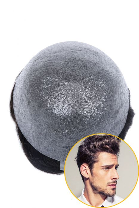 Transparent 0.03mm Thin Poly Hair Replacement System For Men
