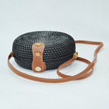 Load image into Gallery viewer, Black Classic Rattan Bag