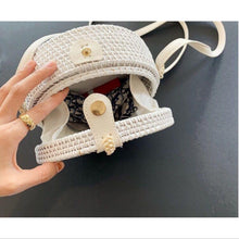 Load image into Gallery viewer, White Rattan bag