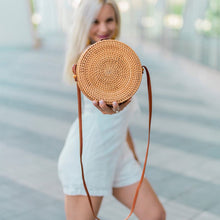 Load image into Gallery viewer, Classic Round Rattan Bag