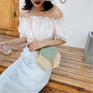 Chic Tassel Straw Bag