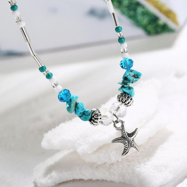 Crystal Starfish Ankle Bracelet