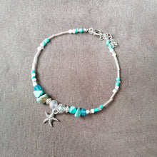 Load image into Gallery viewer, Crystal Starfish Ankle Bracelet