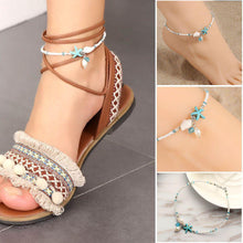 Load image into Gallery viewer, Seashell & Starfish Ankle Bracelet