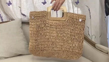 Load and play video in Gallery viewer, Boho Summer Woven Bag