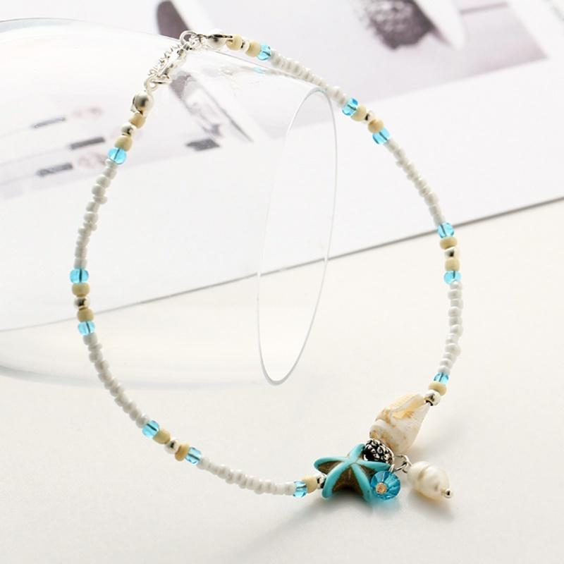 Seashell & Starfish Ankle Bracelet
