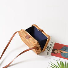 Load image into Gallery viewer, Rectangle Rattan bag