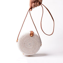 Load image into Gallery viewer, White Classic Rattan Bag