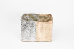 Rectangular silver basket