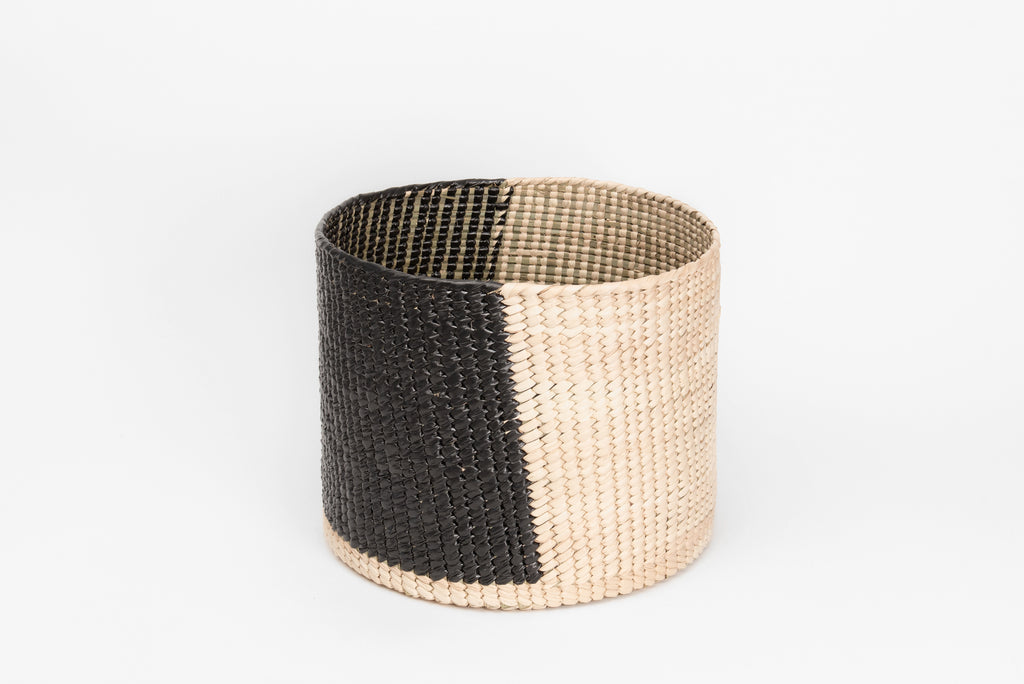 Circular black basket