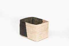 Rectangular black basket