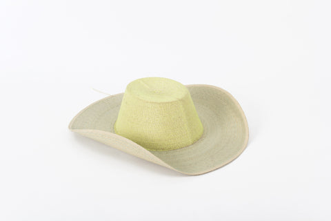 "Sombrero ""Vibrant Green - Light Blue """