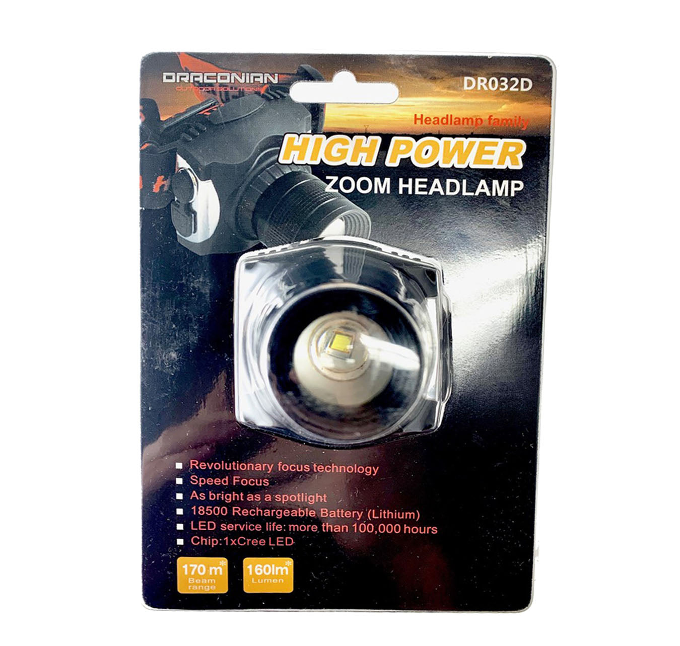 Draconian High Zoom Headlamp #DR032D
