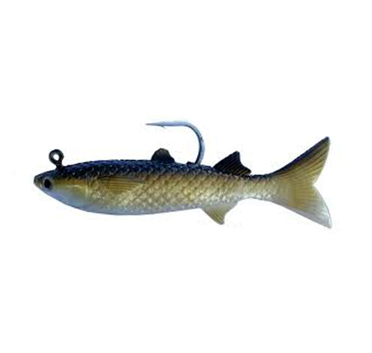 "Gillies 6"" Soft Mullet Lure Col Gold"