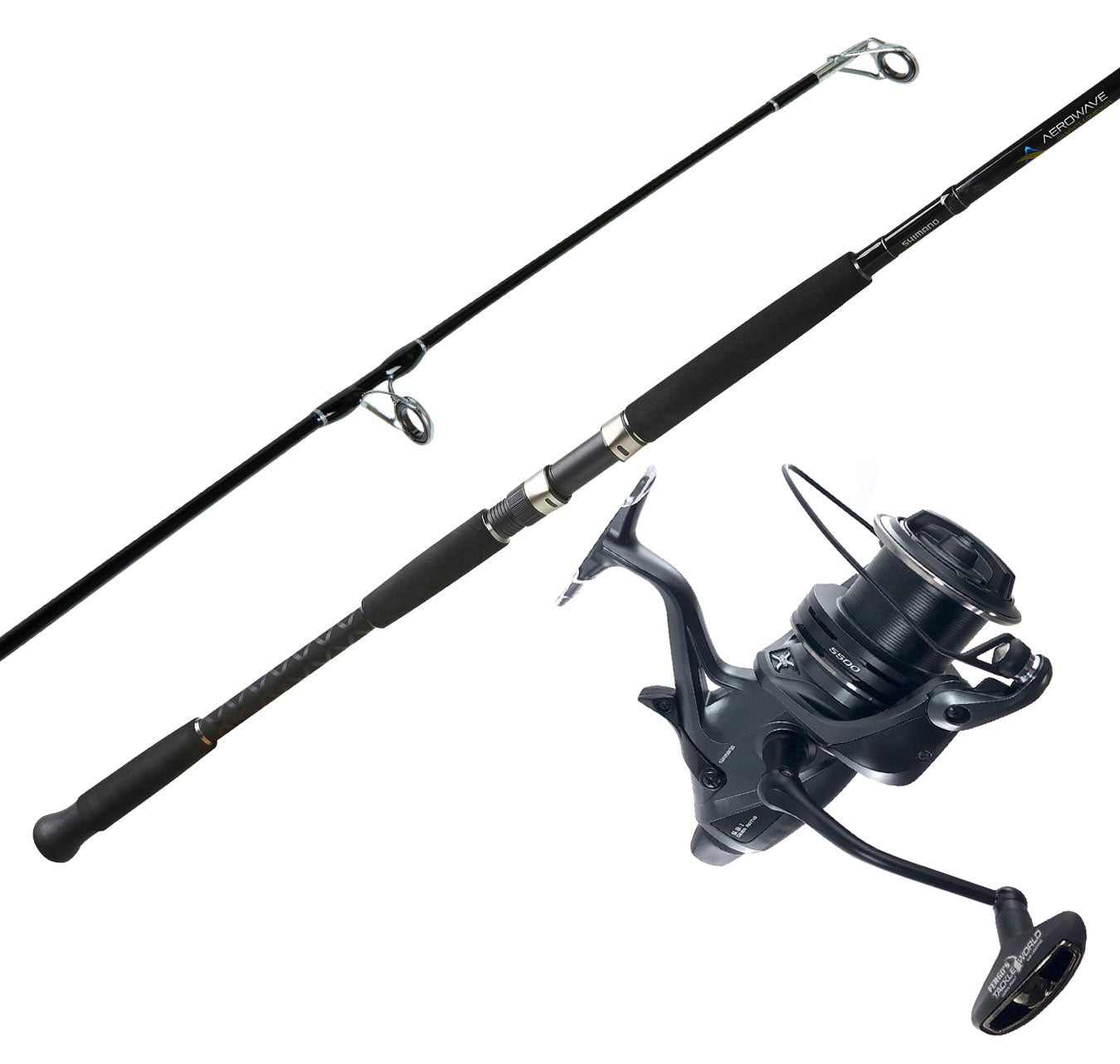 Shimano Aerowave Composite 1202M 5-8kg + Shimano Med Baitrunner Ci4+ LC 5500 XTB Combo