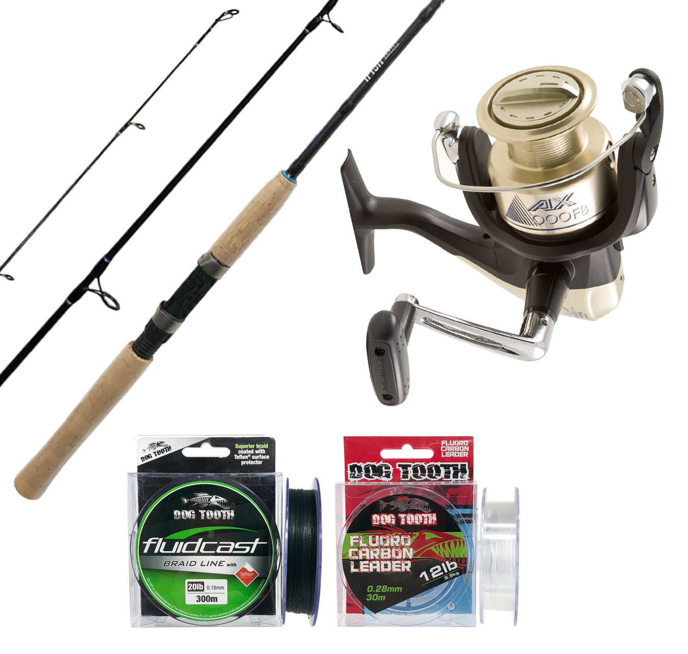 Shimano Ifish 662 3-5kg + AX 2500FB + Line Package