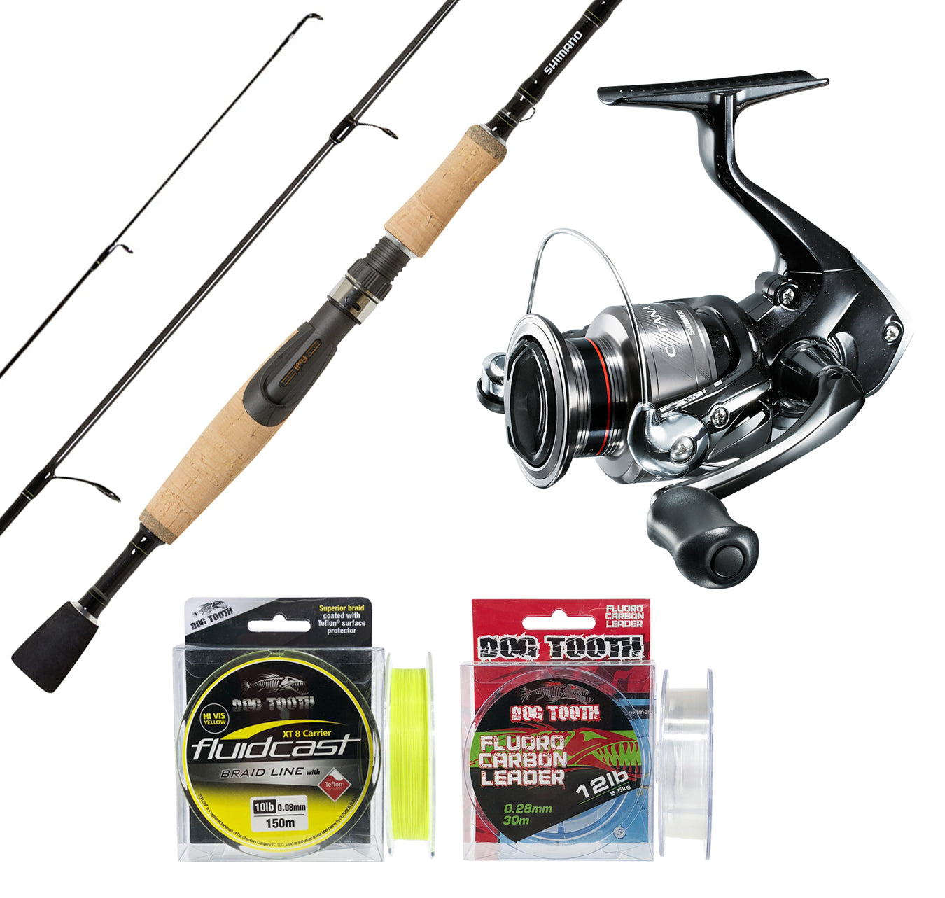 Shimano Sentire 732 2-4kg + Catana FD 2500 + Line Package