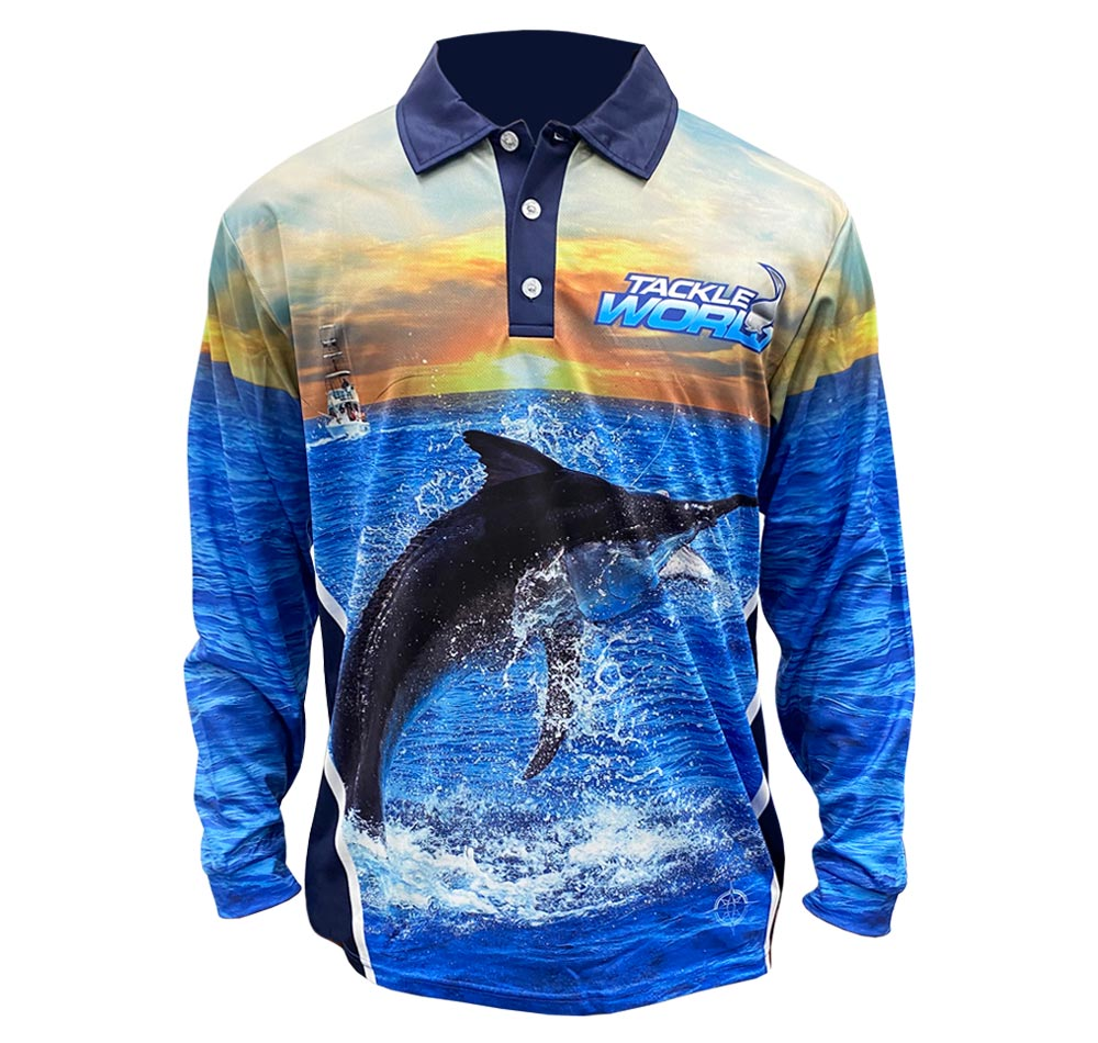 Tackle World Angler Series Marlin Fishing Shirt Front