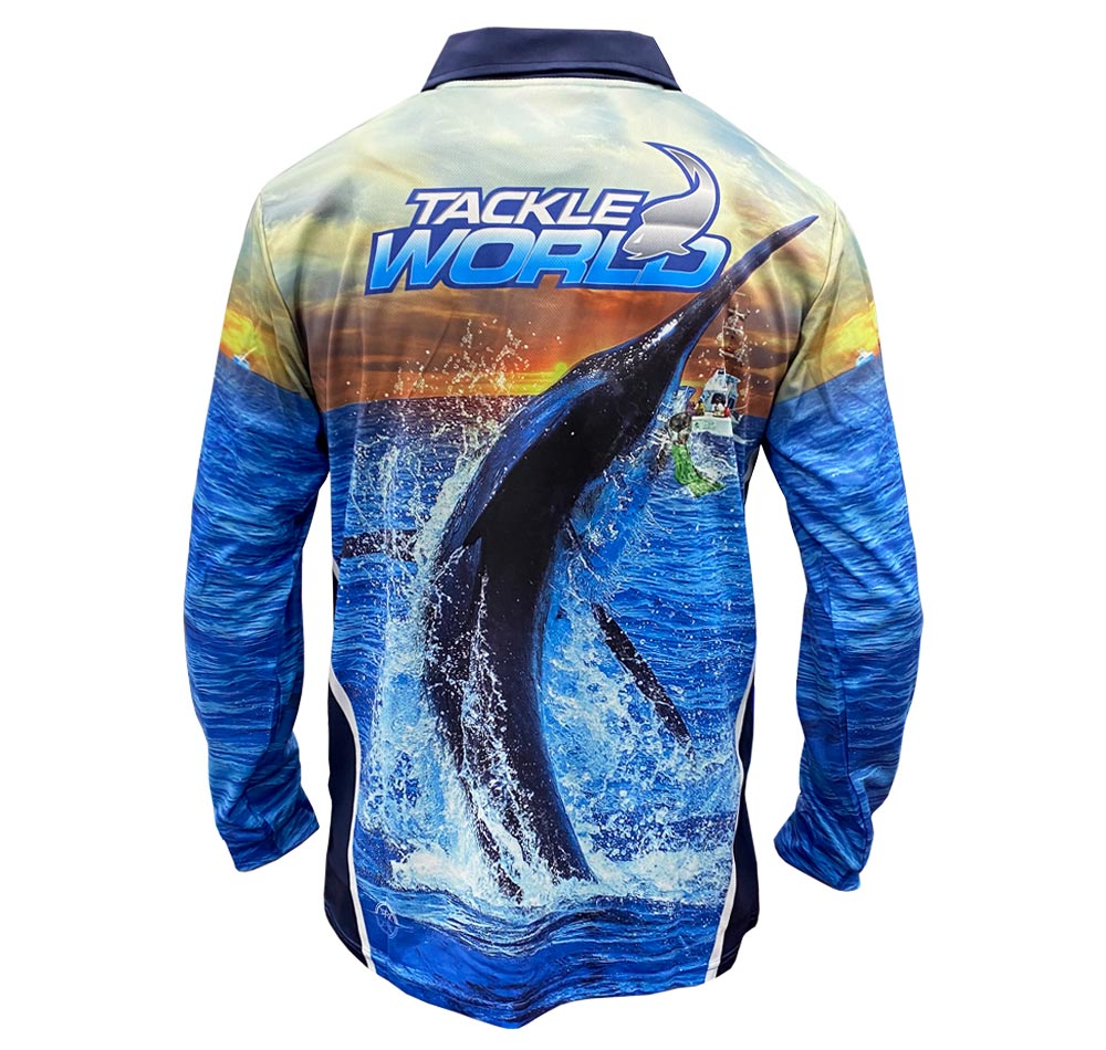 Tackle World Angler Series Marlin Fishing Shirt Back