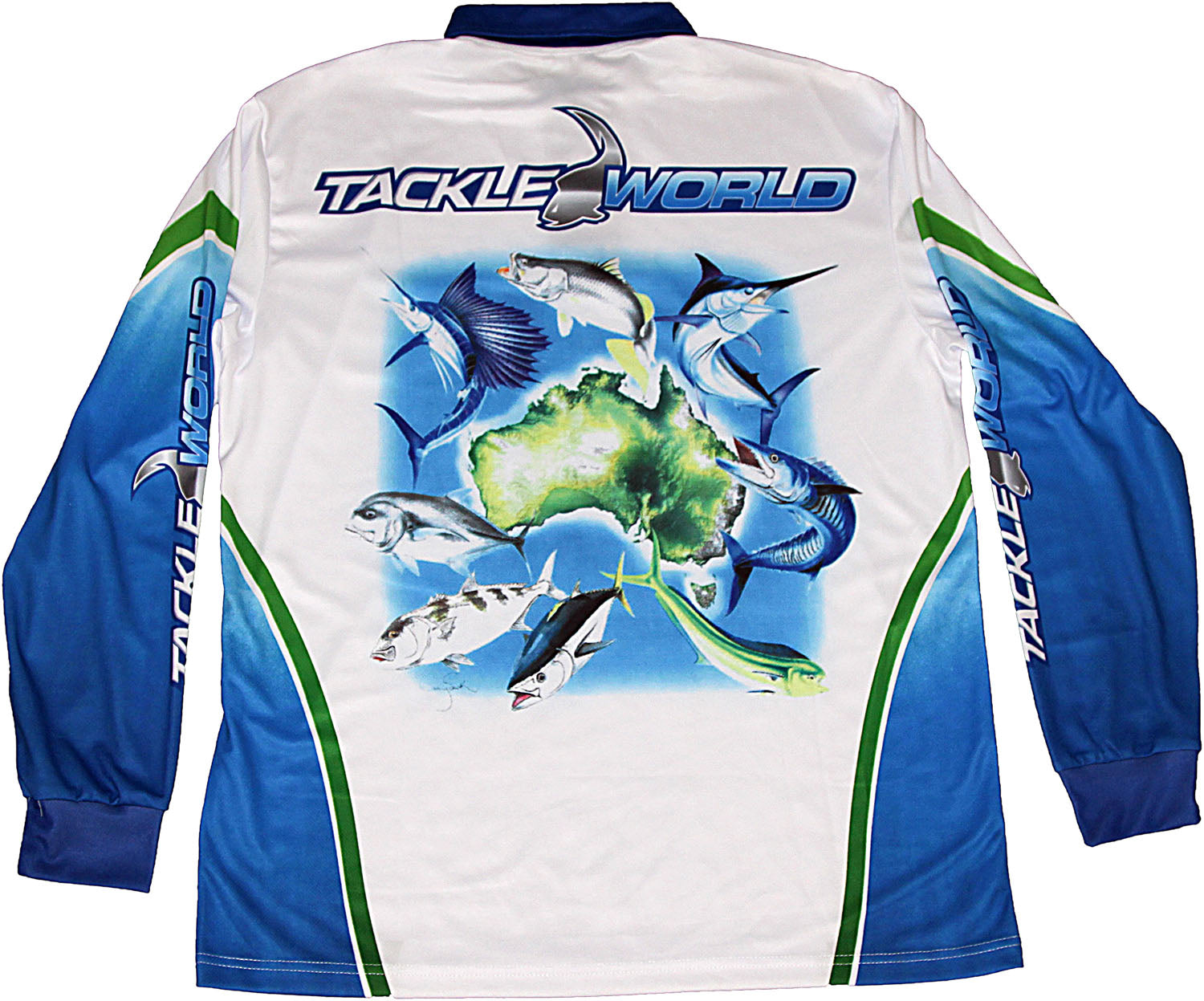 Tackle World Ausfish Shirt Adult Blue
