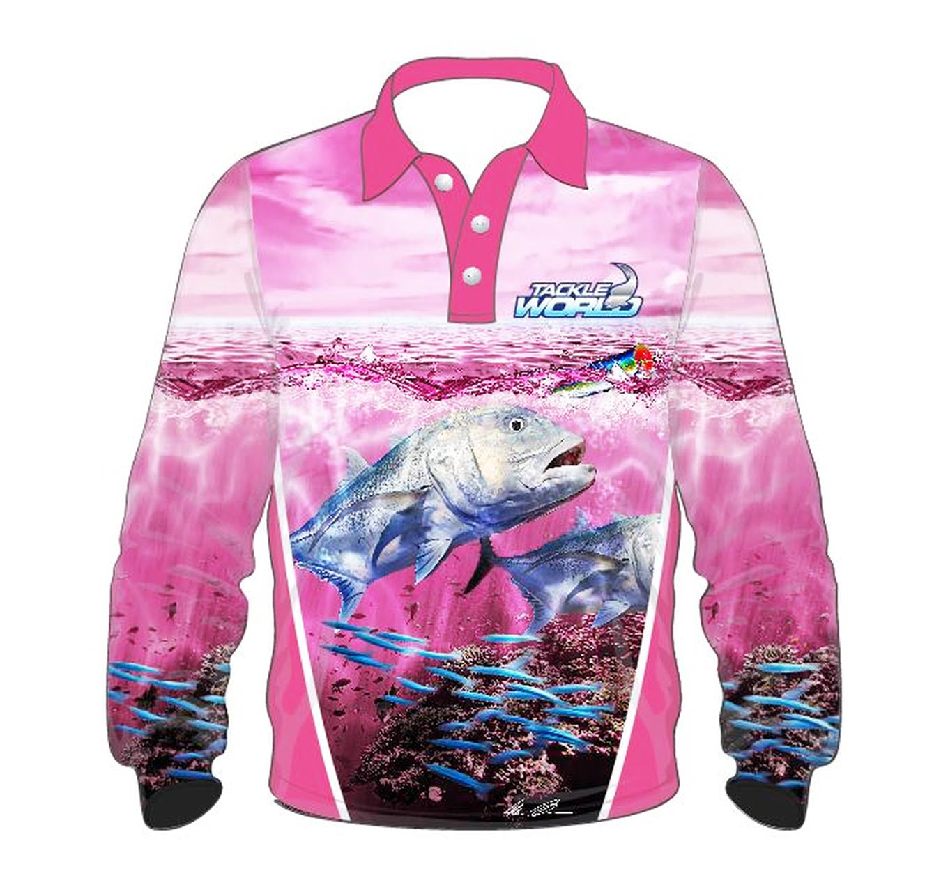 Tackle World GT Pink Girls Fishing Shirt