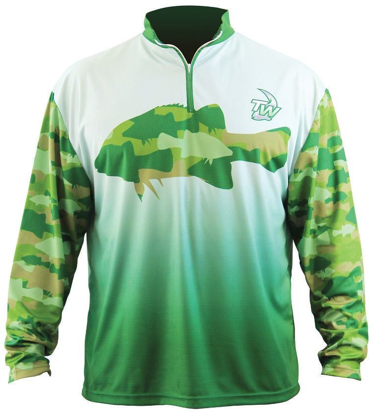 Tackle World Camo Cod Kids Fishing Shirt Size 12