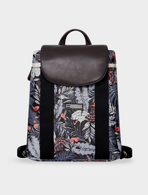 Mini Backpack Tropical Midnight Black