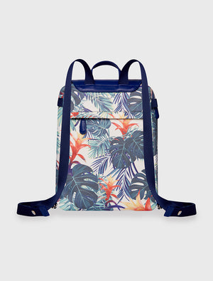Mini Backpack Tropical Botanic Green