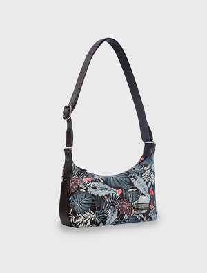 Mini Handbag Tropical Midnight Black