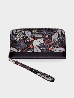 Clutch Wallet Tropical Midnight Black