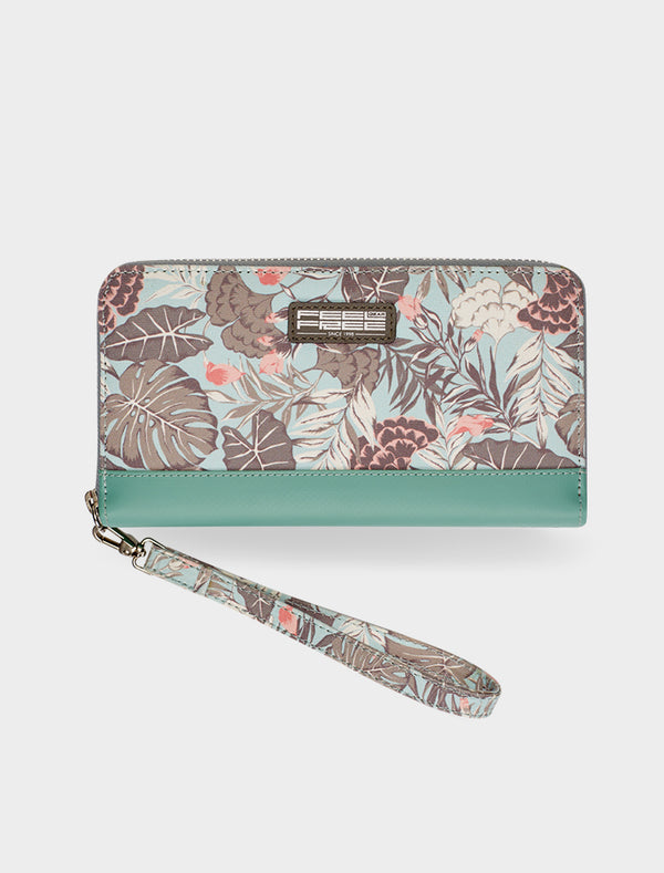 Clutch Wallet Tropical Organic Teal