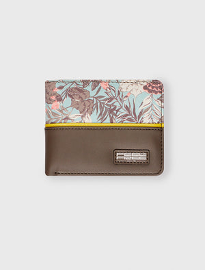 Small Wallet Tropical Organic Teal
