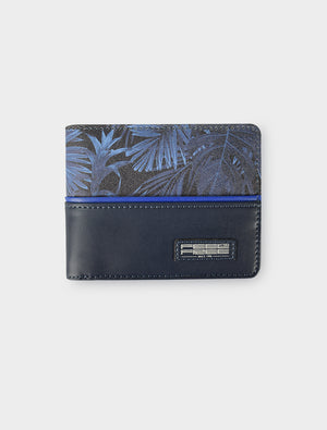 Short Wallet Tropical Midnight Blue