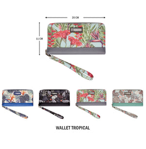 Clutch Wallet Tropical Botanic Green