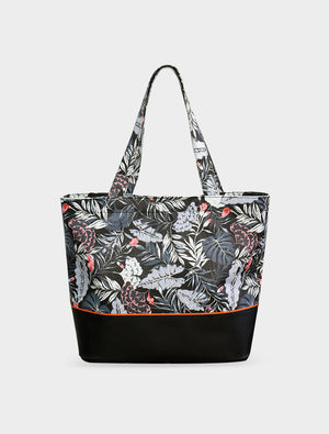 Tote Tropical Midnight Black