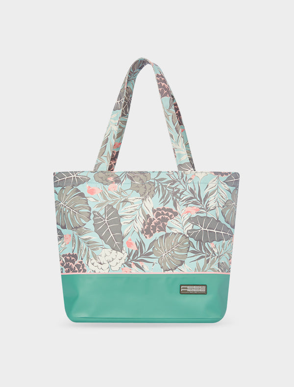 Tote Tropical Organic Teal